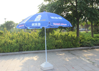Chiny Easy Open Slogan Round Outdoor Parasol, Silne Kolorowe Parasole Plażowe firma