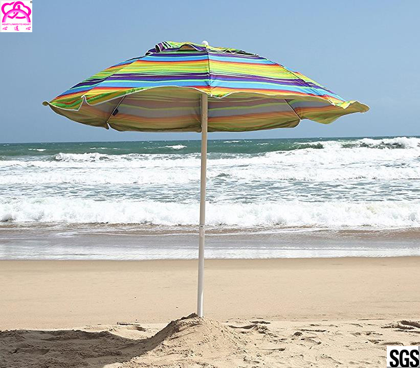 SNAIL 6ft Folded Sun Beach Umbrella with Tilt Portable Silver Coating Inside UV Protection Stripe